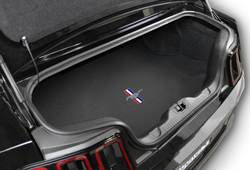 Lloyd Mats mustang trunk mat with pony and bars logo width=