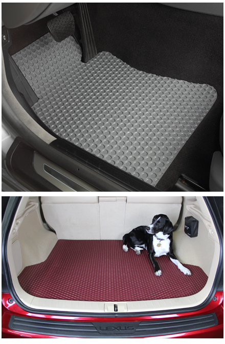 Lloyd Mats Rubbertite all weather custom floor mats for all Mustang and Shelby vehicles, Replaces OEM floor mats
